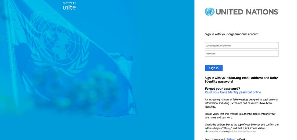 Campaña de phishing de las Naciones Unidas 2