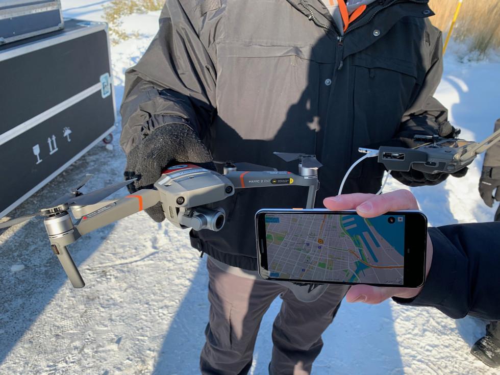 Sistema de drones telefónicos DJI