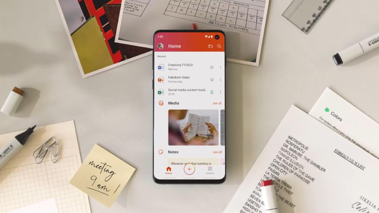 Aplicación móvil Microsoft Office 2019