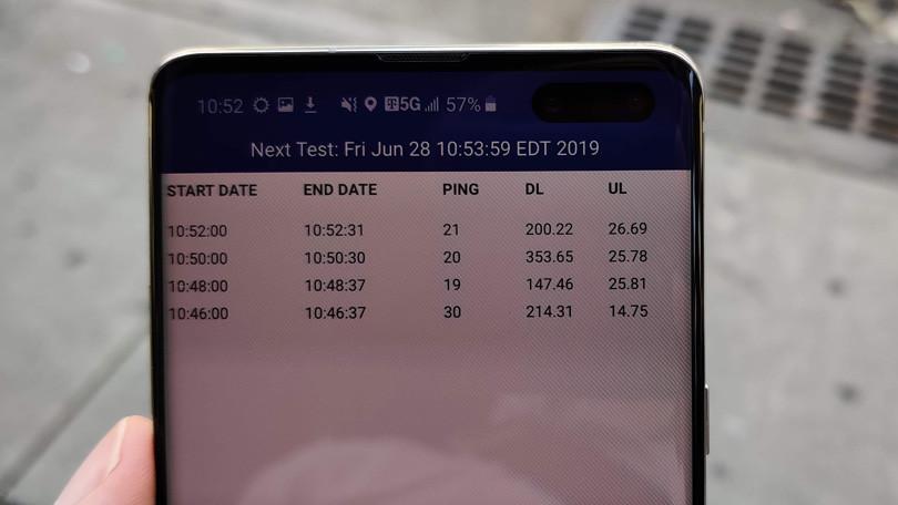 Velocidades del teléfono T-Mobile 5G