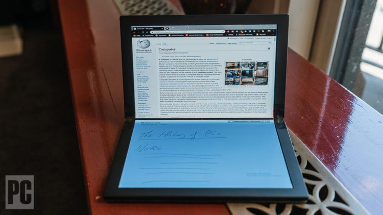 Thinkpad X1 Prototipo plegable de Lenovo