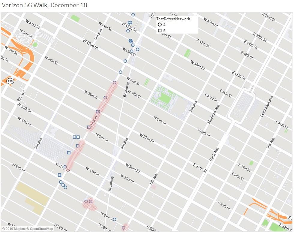 Verizon 5G Walk Midtown, nueva versión